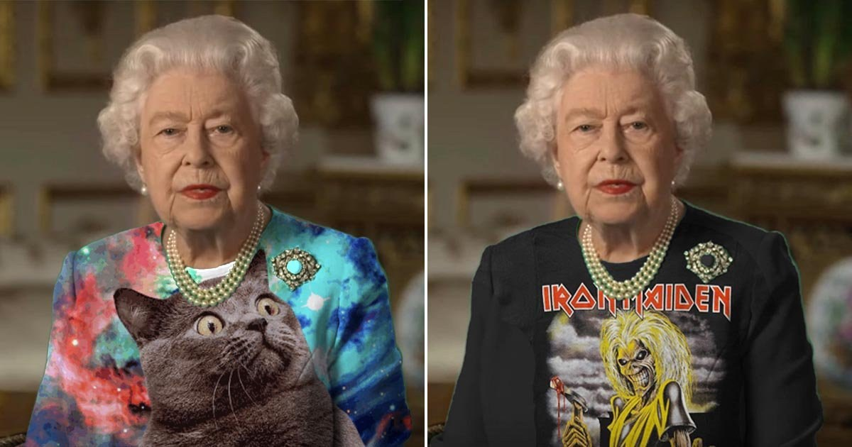 Nestia Reddit Jokers Use The Queen S Outfit As A Green Screen