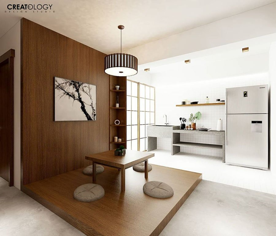 This 4 Room Hdb Flat Design Is A Zen Ryokan With Tatami Dining Tables Bamboo Walls Nestia